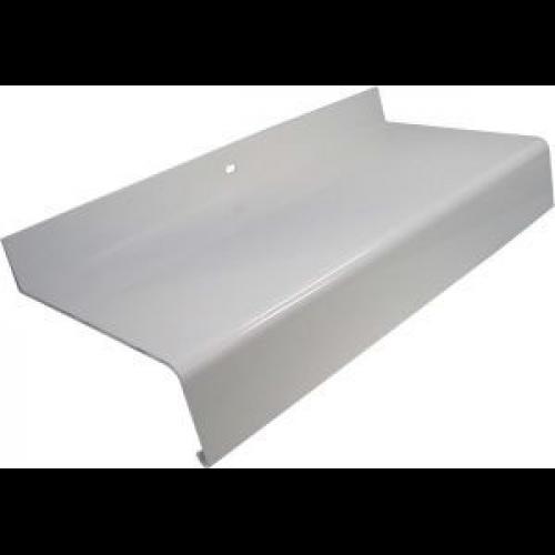 Aluminium Fensterbänke mit Tropfnase 40 mm RAL 9016 beschichtet weiß